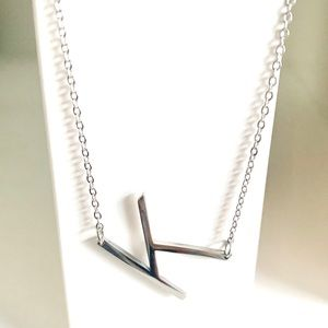 Jewelry - Letter K Initial Pendant Necklace